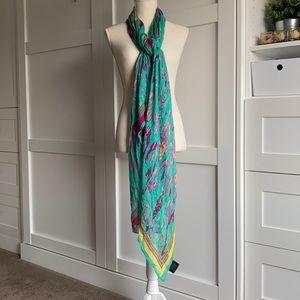 Stella & Dot - Palm Springs Scarf Turquoise Ikat